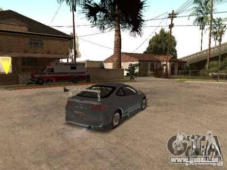 Acura RSX Charge für GTA San Andreas zurück linke Ansicht