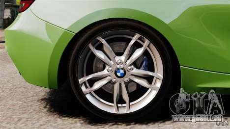 BMW M135i 2013 pour GTA 4 vue de dessus