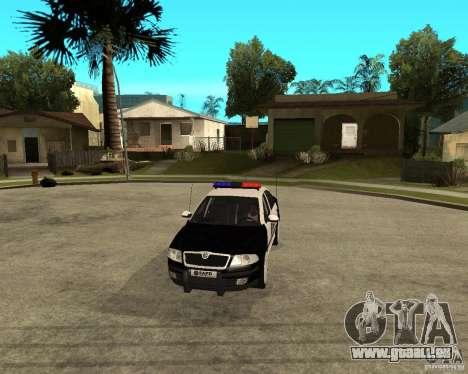 Skoda Octavia II 2005 SAPD POLICE pour GTA San Andreas vue intérieure