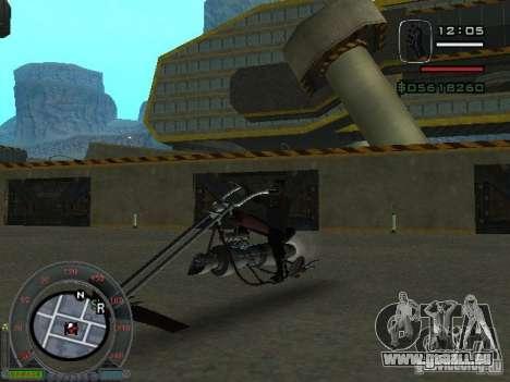 Motard moto de la ville de Alien pour GTA San Andreas laissé vue