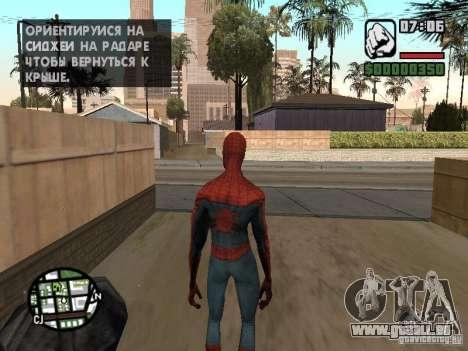 Spider-man 2099 pour GTA San Andreas troisième écran