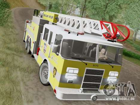 Pierce Arrow XT BCFD Tower Ladder 4 für GTA San Andreas Seitenansicht