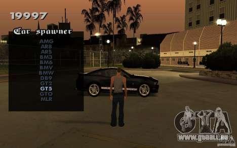 Vehicles Spawner pour GTA San Andreas troisième écran