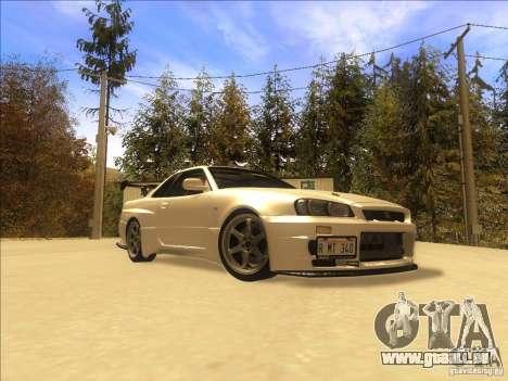 Nissan Skyline GT-R BNR34 Tunable pour GTA San Andreas