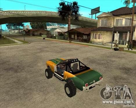 Ford Mustang Sandroadster pour GTA San Andreas laissé vue