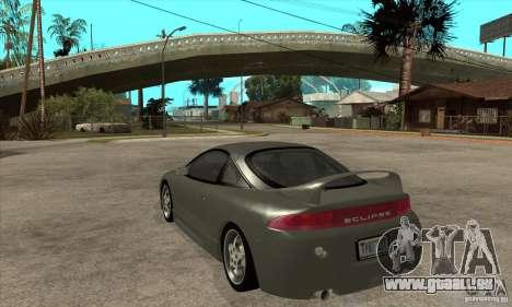 Mitsubishi Eclipse GSX - Stock pour GTA San Andreas sur la vue arrière gauche