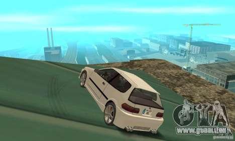 Honda Civic SiR II Tuning für GTA San Andreas zurück linke Ansicht