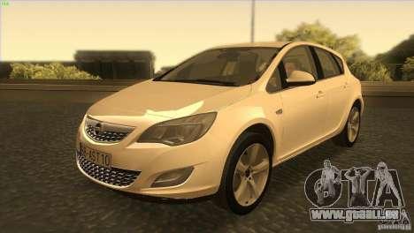 Opel Astra 2010 pour GTA San Andreas laissé vue