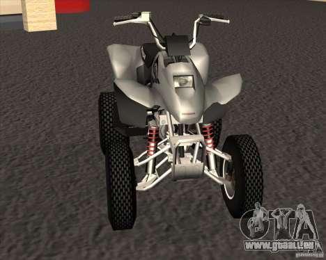 Honda Sportrax 250EX pour GTA San Andreas laissé vue