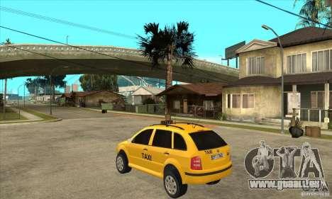 Skoda Fabia Combi Taxi für GTA San Andreas zurück linke Ansicht