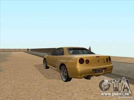 Nissan Skyline R34 VeilSide pour GTA San Andreas sur la vue arrière gauche