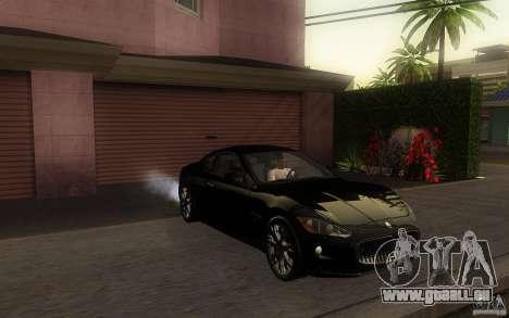 Maserati Gran Turismo S 2011 für GTA San Andreas linke Ansicht