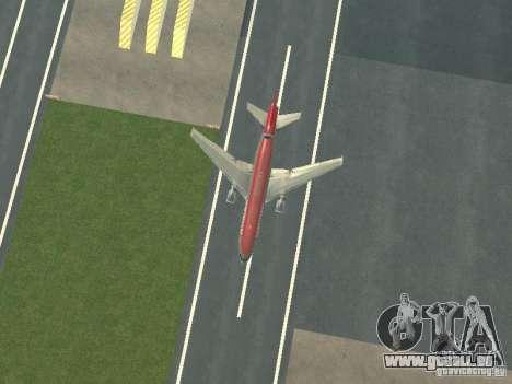 McDonell Douglas DC 10 Nortwest Airlines pour GTA San Andreas vue intérieure