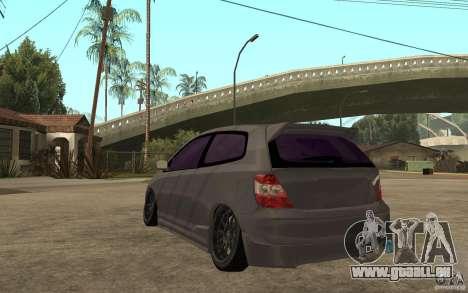 Honda Civic Type-R pour GTA San Andreas sur la vue arrière gauche