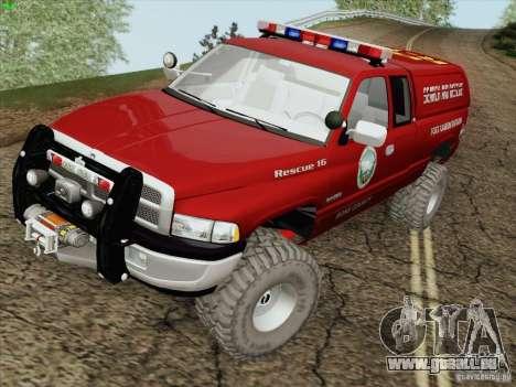 Dodge Ram 3500 Search & Rescue für GTA San Andreas Seitenansicht