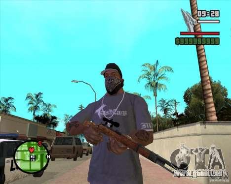 K98 pour GTA San Andreas deuxième écran