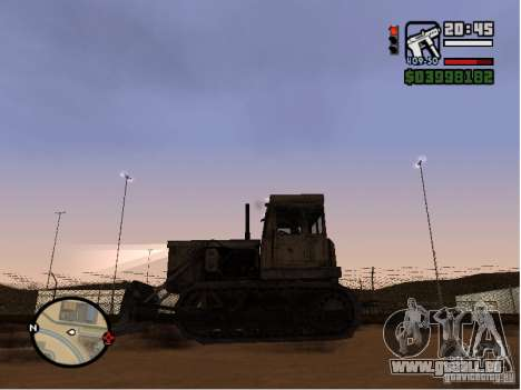 Bulldozer T 130 für GTA San Andreas linke Ansicht