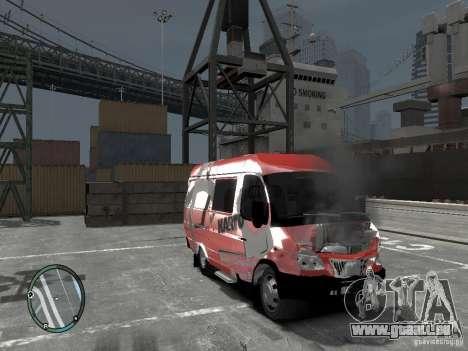 Gazelle 2705 Telkomsel Van für GTA 4 Rückansicht