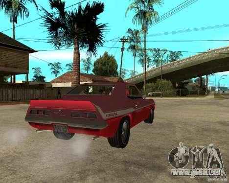 1969 Yenko Chevrolet Camaro für GTA San Andreas zurück linke Ansicht