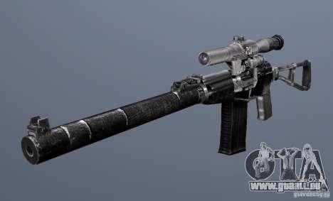 Comme fusil d'assaut de Val pour GTA San Andreas troisième écran