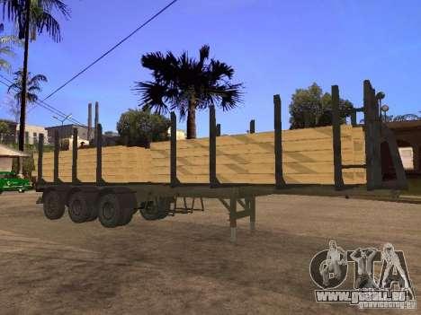 Remorque MAZ 99864 pour GTA San Andreas vue de côté