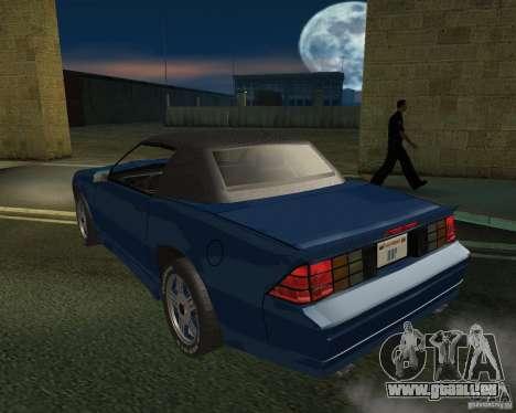 Chevrolet Camaro 1992 pour GTA San Andreas laissé vue