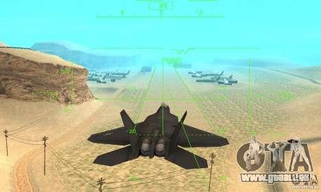 F-22 Black pour GTA San Andreas vue de dessus