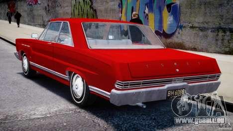 Ford Mercury Comet 1965 [Final] pour GTA 4 vue de dessus