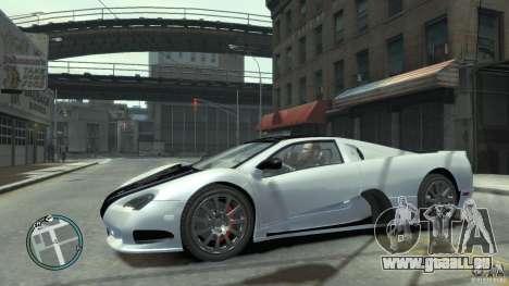 Shelby Super Cars Ultimate Aero pour GTA 4 est un côté