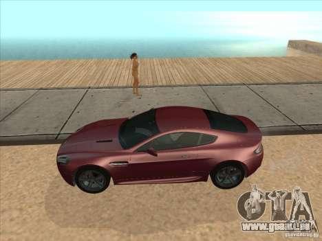 Aston Martin v8 Vantage n400 für GTA San Andreas zurück linke Ansicht