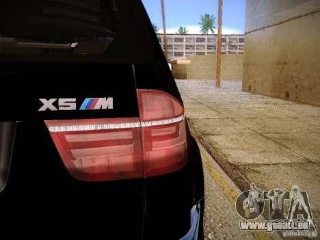 BMW X5M 2011 pour GTA San Andreas vue de droite
