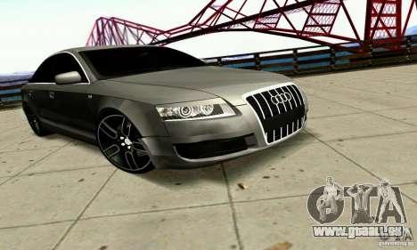 Audi A6 Blackstar für GTA San Andreas Rückansicht