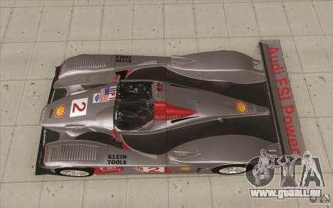 Audi R10 LeMans - Stock für GTA San Andreas rechten Ansicht