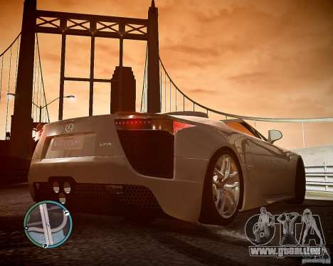 Lexus LF-A Roadster pour GTA 4 Vue arrière