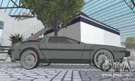 DeLorean DMC-12 (BTTF2) pour GTA San Andreas vue de droite