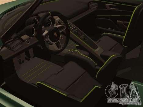 Porsche 918 Spyder für GTA San Andreas rechten Ansicht