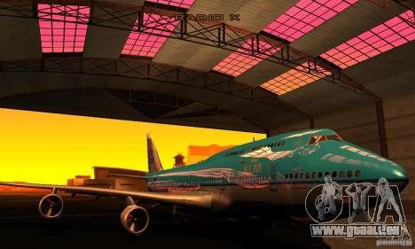 Boeing 747 KLM für GTA San Andreas Rückansicht