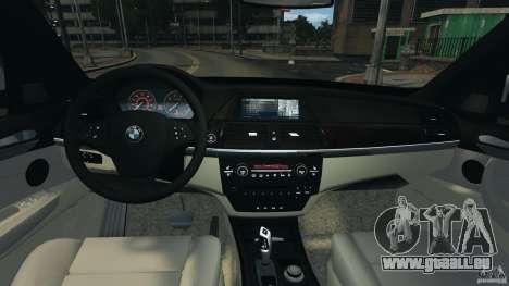 BMW X5 xDrive35d pour GTA 4 Vue arrière