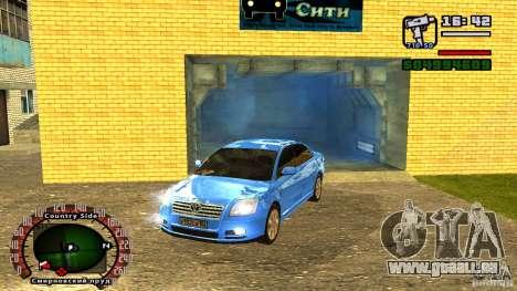 Toyota Avensis pour GTA San Andreas sur la vue arrière gauche