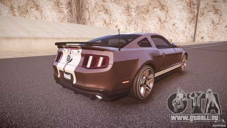 Ford Mustang Shelby GT500 2010 (Final) für GTA 4 obere Ansicht