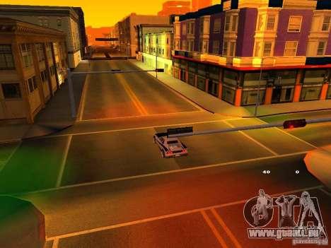 New Cheetah pour GTA San Andreas vue intérieure