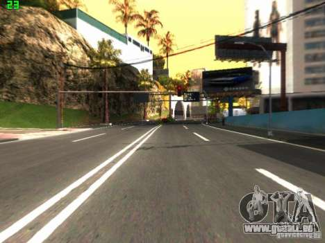 Roads Moscow pour GTA San Andreas deuxième écran