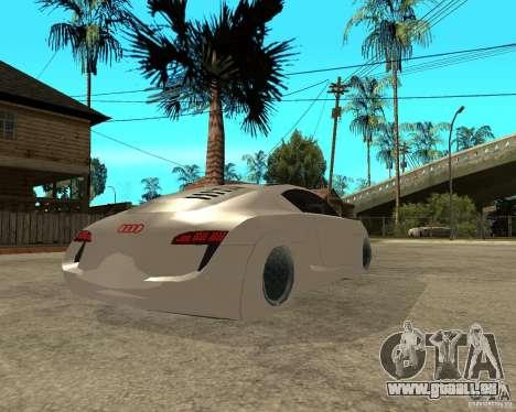 AUDI RSQ concept 2035 pour GTA San Andreas sur la vue arrière gauche