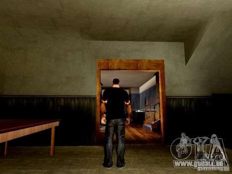 Schwarzes T-shirt mit einem Schädel für GTA San Andreas dritten Screenshot