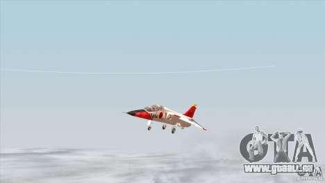 Mitsubishi T-2 für GTA San Andreas Innenansicht