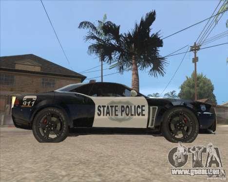 Police NFS UC pour GTA San Andreas sur la vue arrière gauche