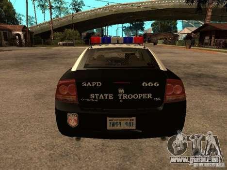 Dodge Charger RT Police pour GTA San Andreas vue de droite