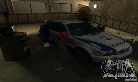 BMW M3 E46 TUNEABLE pour GTA San Andreas vue intérieure