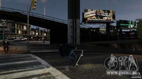 Skateboard # 3 für GTA 4 Rückansicht