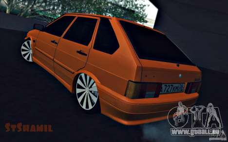 Ваз 2114 saftige Orange für GTA San Andreas linke Ansicht